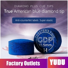 SuperGold Diamond Blue Tip Excellent Pool Cue Tip  Billiards Accessories with Authentic American Blue Diamond Logo vic firth american classic® wood tip 5bb