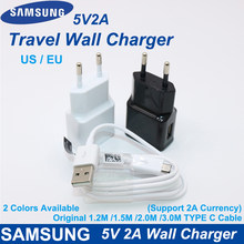 Original 5V2A Wall Charger for Samsung Charger EU/US Plug Adapter Type C Cable for Galaxy S6 S7edge J1 J3 J5 J7 A3 A5 A7 A8 2016(China)