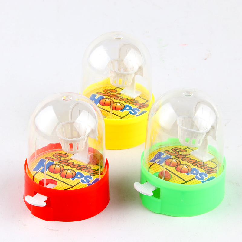 Cute Mini Basketball Machine Handheld Finger Ball Reduce Pressure Player Shooting Puzzle Children Toys Gift for Kids Fans Club