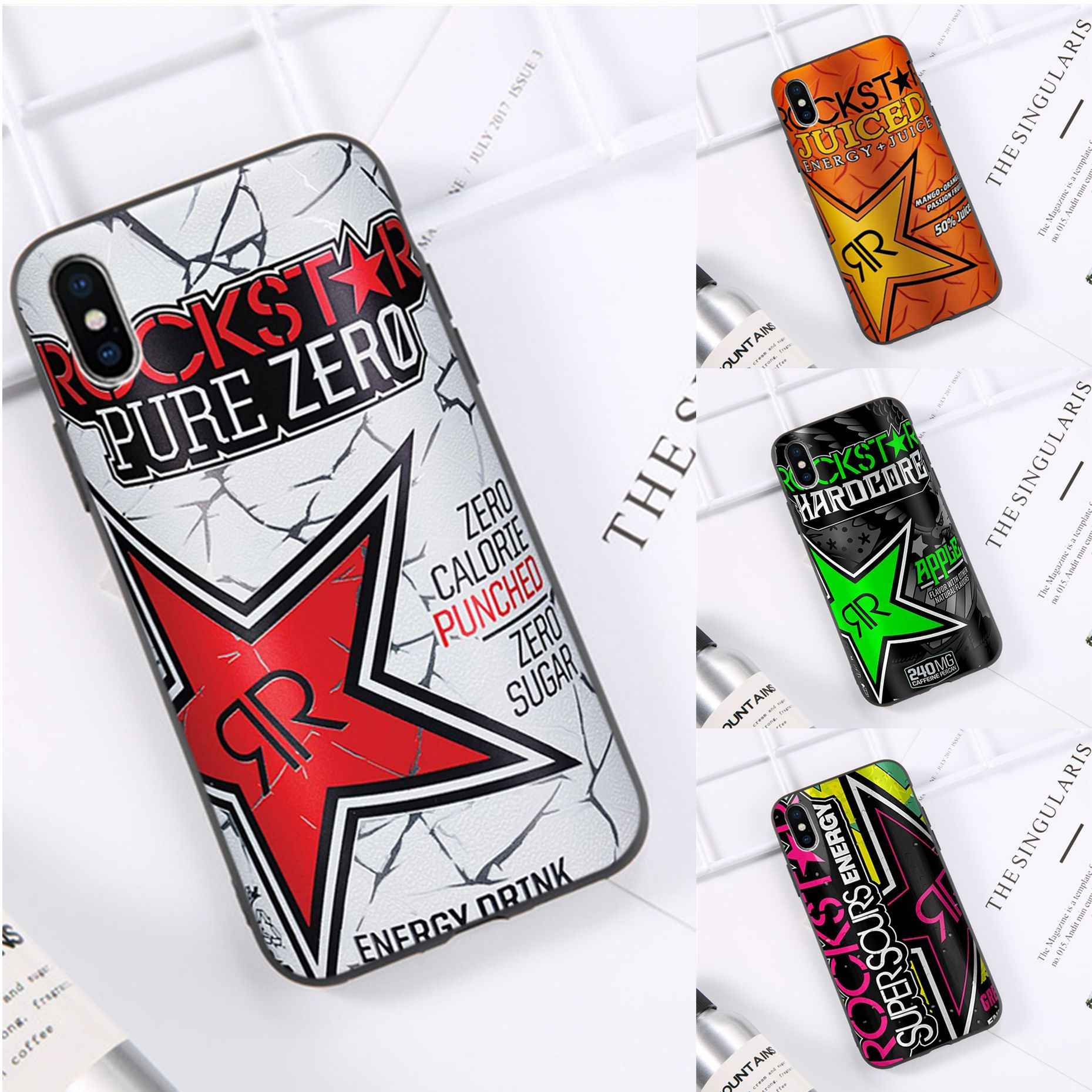 Rockstar Energy Drink Pure Nul Tpu Zachte Siliconen Phone Case Cover Voor Iphone 11 Pro Xs Max 8 7 6 6S Plus X 5 5S Se Xr Case