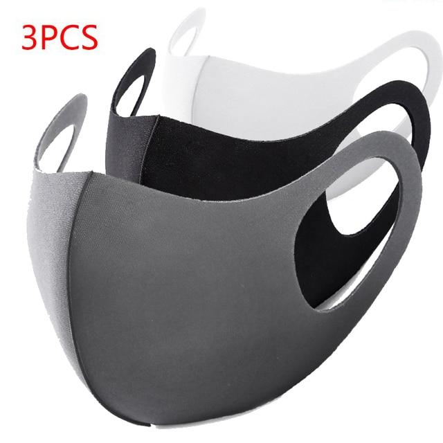 3Pcs Anti Dust Sponge Mouth Mask Washable Dustproof Reusable Face Mask Adult Kid Health Protective Cold Prevention