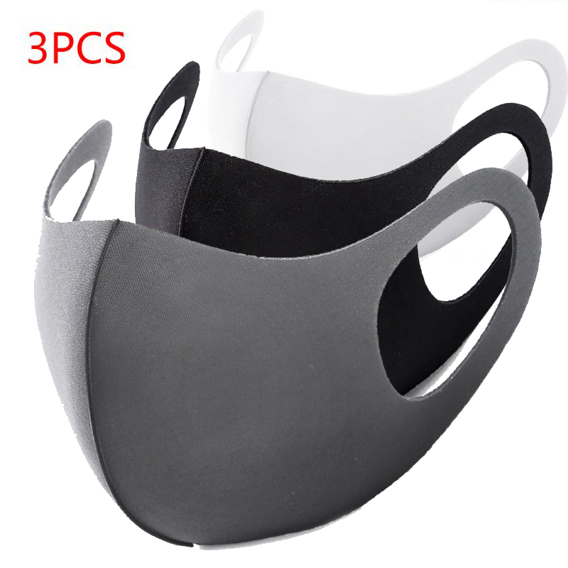 3Pcs Anti Virus Sponge Mouth Mask Washable Dustproof Reusable  Face Mask Adult Kid Health Anti Dust Protective Cold PreventionWomens  Masks