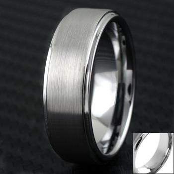 Klasyczny męski pierścionek ze stali nierdzewnej 8MM matowa tekstura powierzchnia szczotkowane obrączki ślubne prezenty dla chłopaka ojca tanie i dobre opinie FDLK CN (pochodzenie) STAINLESS STEEL Mężczyźni Metal TRENDY ROUND Zgodna ze wszystkimi Poprawiające nastrój AB*1833