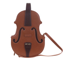 vintage Designer violin tote bag Women leather Handbags Female Lolita shoulder c