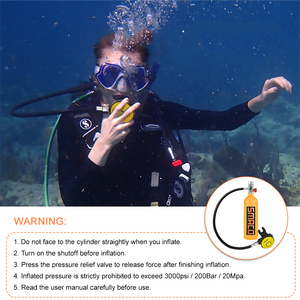 Image 5 - 1L Scuba Oxygen Cylinder Diving Air Tank Scuba Regulator Diving Respirator Snorkeling Breathing Equipment with Protective Pouch