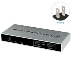 تحكم 4K 60Hz منفذ مزدوج 1 خارج مفتاح ماكينة افتراضية معتمدة على النواة ديسبلايبورت HDMI USB رصد اتصال ثابت دعم الكمبيوتر VGA الماوس