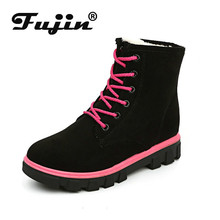 Fujin Women Snow Boots Ladies Snow Boots Dropshipping Winter New Female Winter Shoes Warm In The Tube Women Cotton Shoes Boots women winter walking boots ladies snow boots waterproof anti skid skiing shoes women snow shoes outdoor trekking boots for 40c