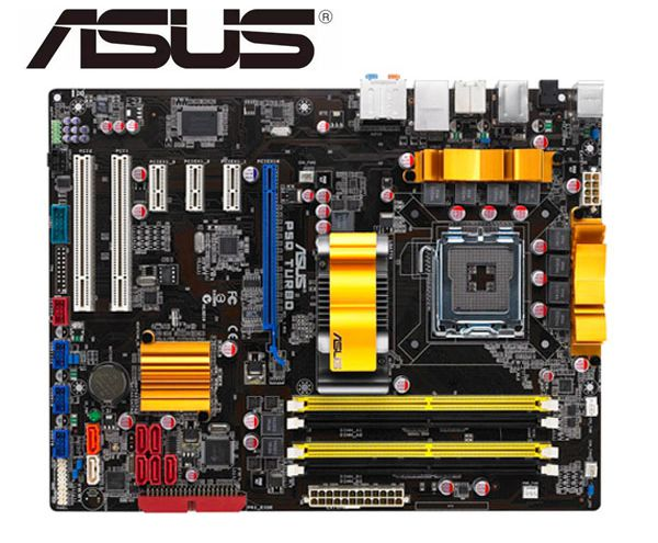 Asus P5Q Turbo Desktop Motherboard LGA 775 <font><b>DDR2</b></font> USB2.0 16GB For Core 2 Duo Quad P45 Original motherboards on sales image
