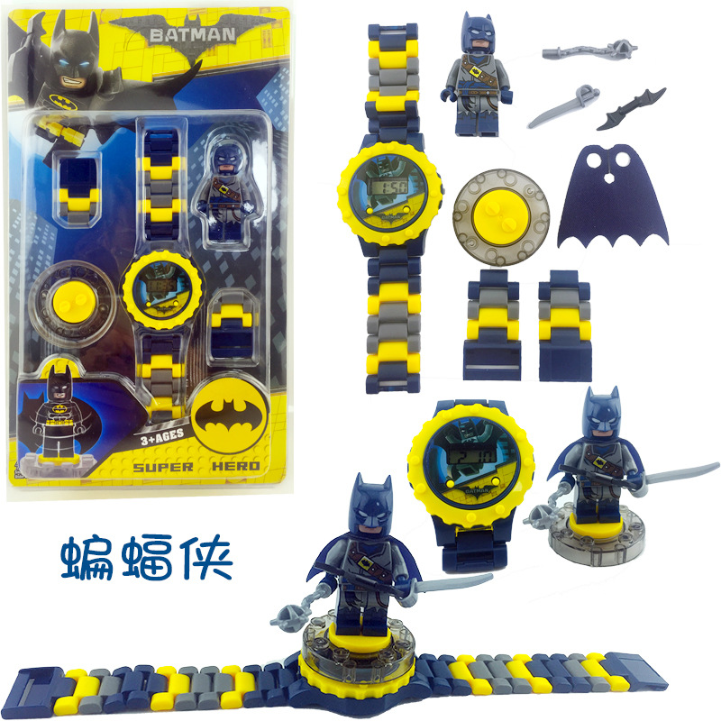 Super Hero Children Watch Building Block Watch Ninjagoed Marvel Avengers Compatible With Legoed Figures Bricks Toys Minecrafted
