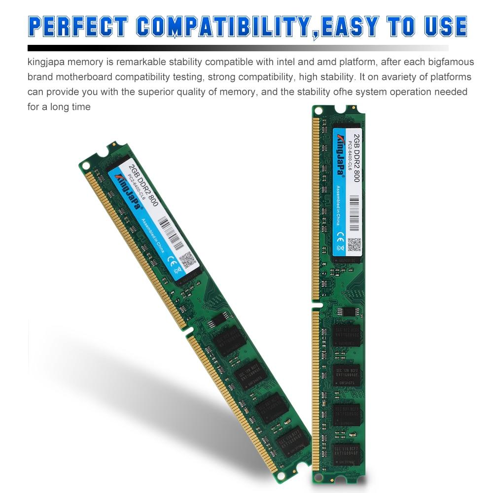 KingJaPa DDR2/DDR3 1GB/2GB/4GB/8GB/16GB 1600MHz/1333MHz/800MHz Desktop RAM 5