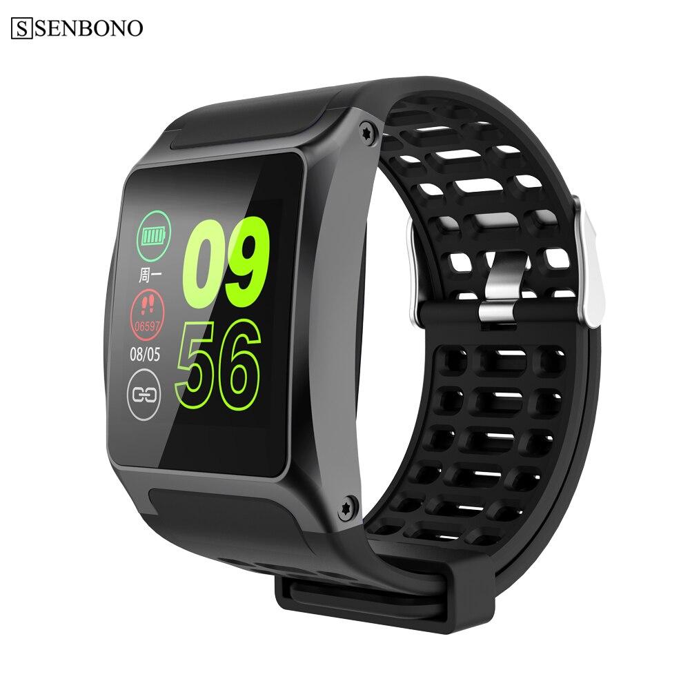 SENBONO Sport 1 Smart Watch Men Waterproof Clock Activity Fitness Tracker Heart Rate Monitor Smartwatch For IOS Android PK P70