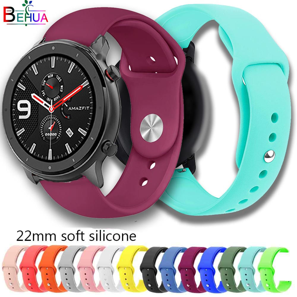 Colorful Bracelet Watch Strap For Huami Amazfit GTR 47mm/Stratos 2 2S Sport Soft Silicone 22mm Wristband For Garmin Vivomove New