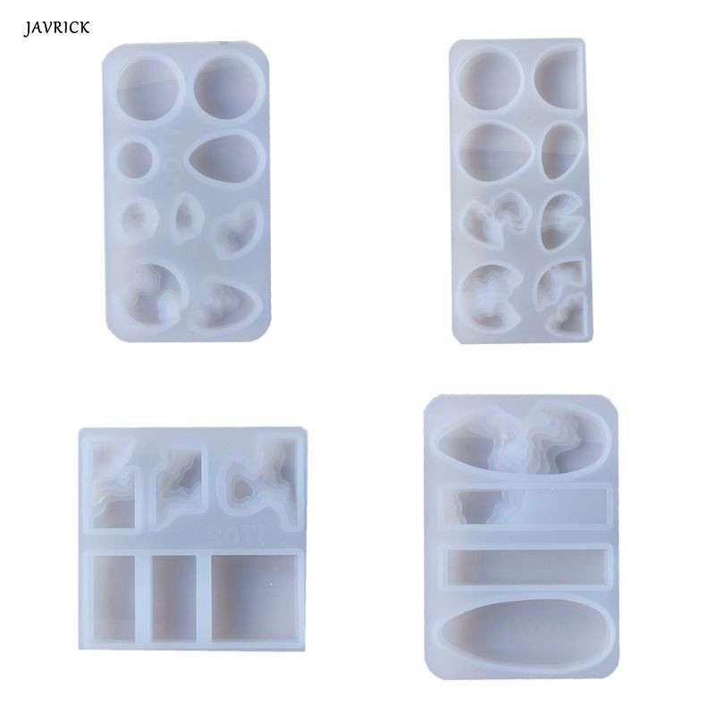 Crystal Epoxy Mold DIY Pendant Jewelry Crafts Making Silicone Mould UV Resin Molds