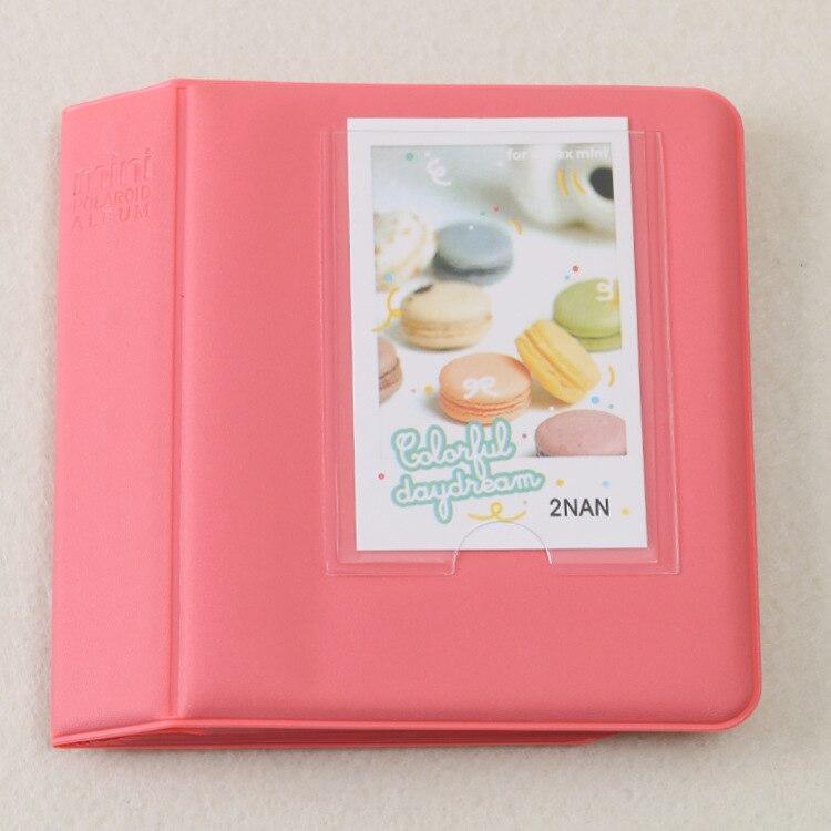 64 Карманы Мини Мгновенный Полароид фотоальбом чехол для хранения для Кореи instax Мини альбом - Цвет: D