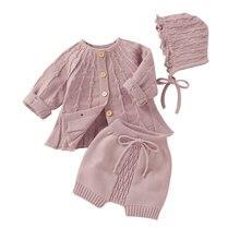 Вязаные свитера для маленьких девочек кардиган простая однотонная
