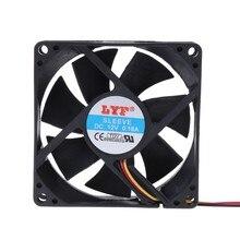 2021 nouveau CPU PC ventilateur refroidisseur dissipateur thermique d'échappement 3 broches 80mm x 25mm