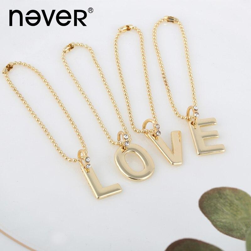 Never Fashion Gold Planner Notebook Decorative Pendant 26 Letters Alphabet Metal Pendants Souvenir Stationery School Supplies