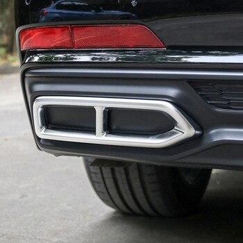 Gelinsi para audi a6 c8 2019 estilo do carro tubos de cauda tubo escape silenciador quadro capa guarnição adesivo exterior acessórios