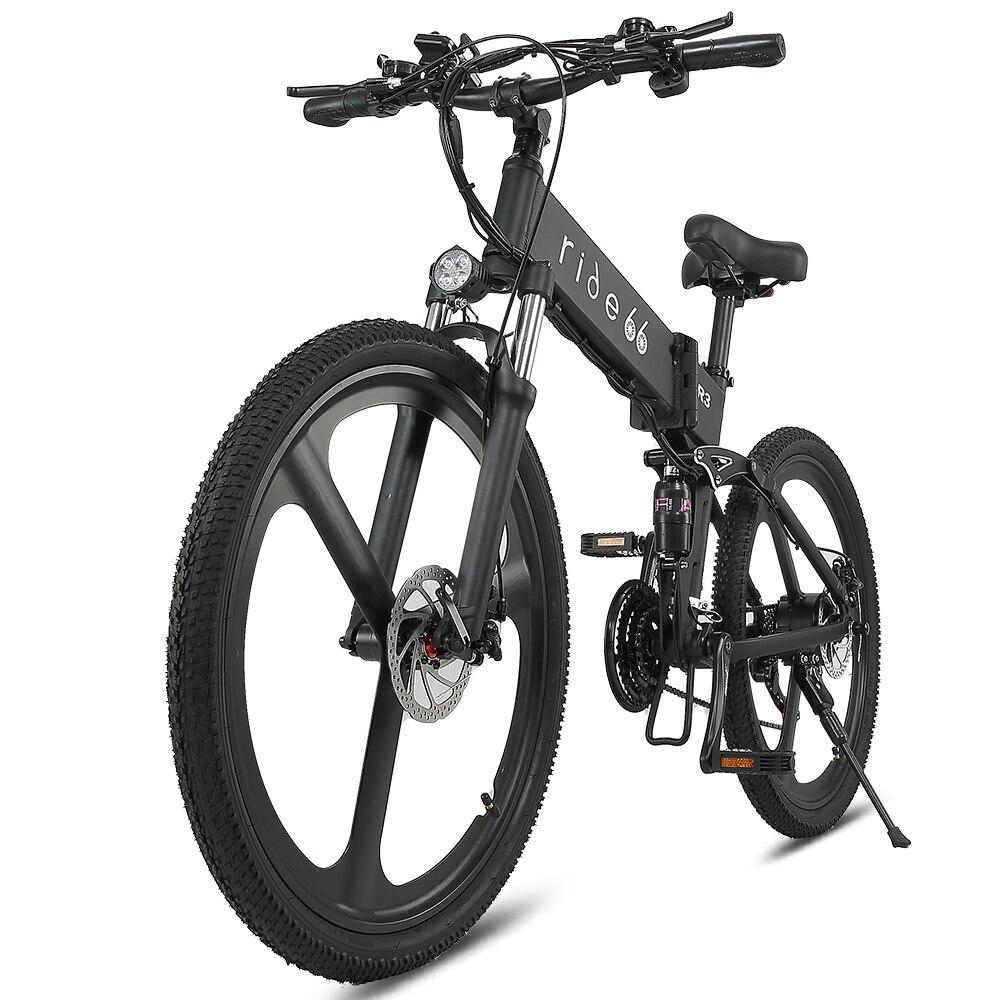 Электрический велосипед, складной горный электровелосипед, макс. 45 км/ч, 12,8 Ач, 48 В 1000 Вт, горный велосипед, велосипед для снега, горный велоси...