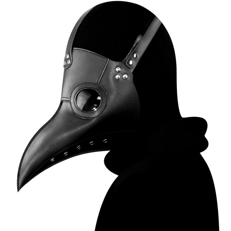 Halloween Mask Plague Doctor Steampunk Bird Leather Halloween Party Mask Costume Cosplay Beak Head Mask