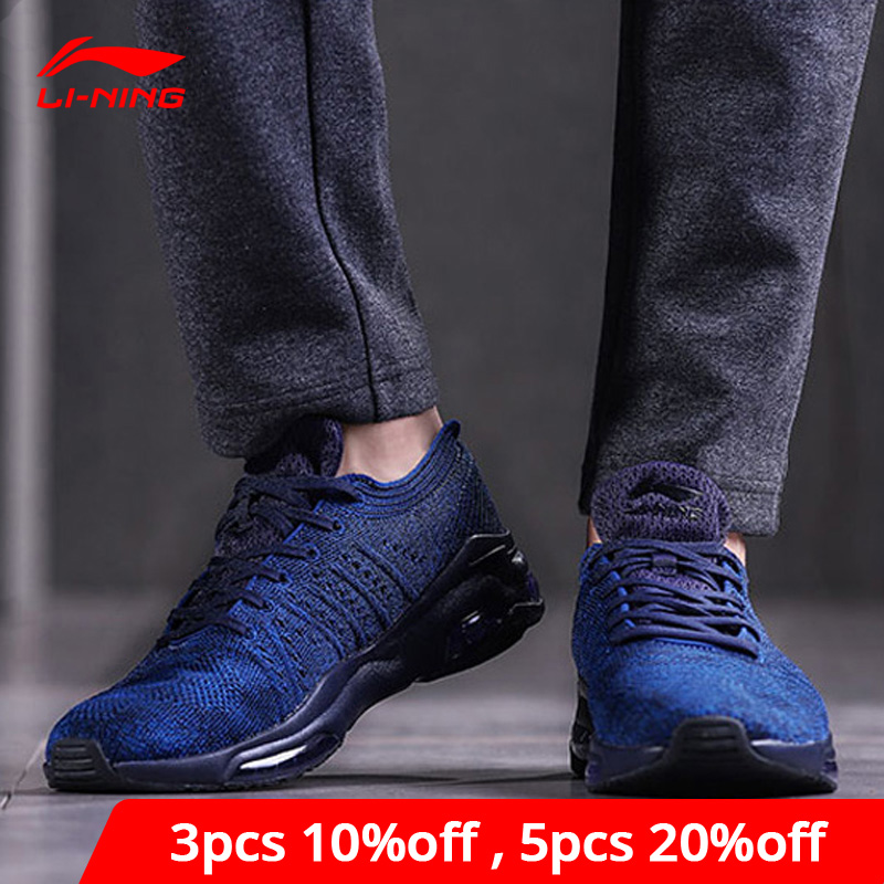 Li-Ning Men BUBBLE FACE WG Lifestyle Shoes Cushion Mono Yarn LiNing Li Ning Sport Shoes Breathable Sneakers AGCN021 YXB154