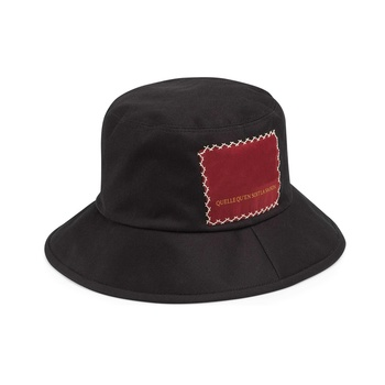 Bucket Hats for Women And Men, Trendy Cotton Twill Canvas letters Sun Fishing Hat Fashion Cap Packable chic letters pattern strap embellished felt bucket hat for women