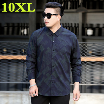 new plus size 10XL 9XL 8XL 7XL 6XL Casual  Men Shirts  loose Fit Male Social Shirts Brand Long Sleeve Business Shirt Men Clothes
