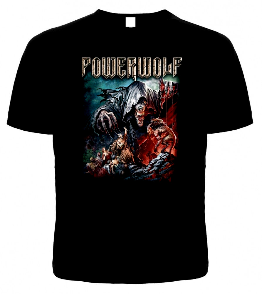 T-shirt POWERWOLF THE SACRAMENT OF SIN. New.Different Size. A Metal Nation Band 2019 New Men T Shirt Top Tee Plus Size
