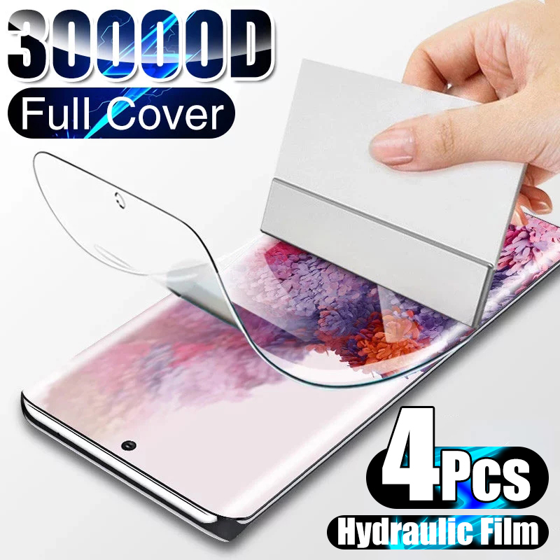 4Pcs Hydrogel Film on the Screen Protector For Samsung Galaxy S10 S20 S9 S8 S21 Plus Ultra Screen Protector For Note 20 8 9 10