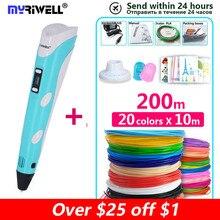 3D Pen Myriwell Brand printing pen use 1.75mm ABS/PLA Filament Creative DIY Gifts birthday present Graffiti for kids