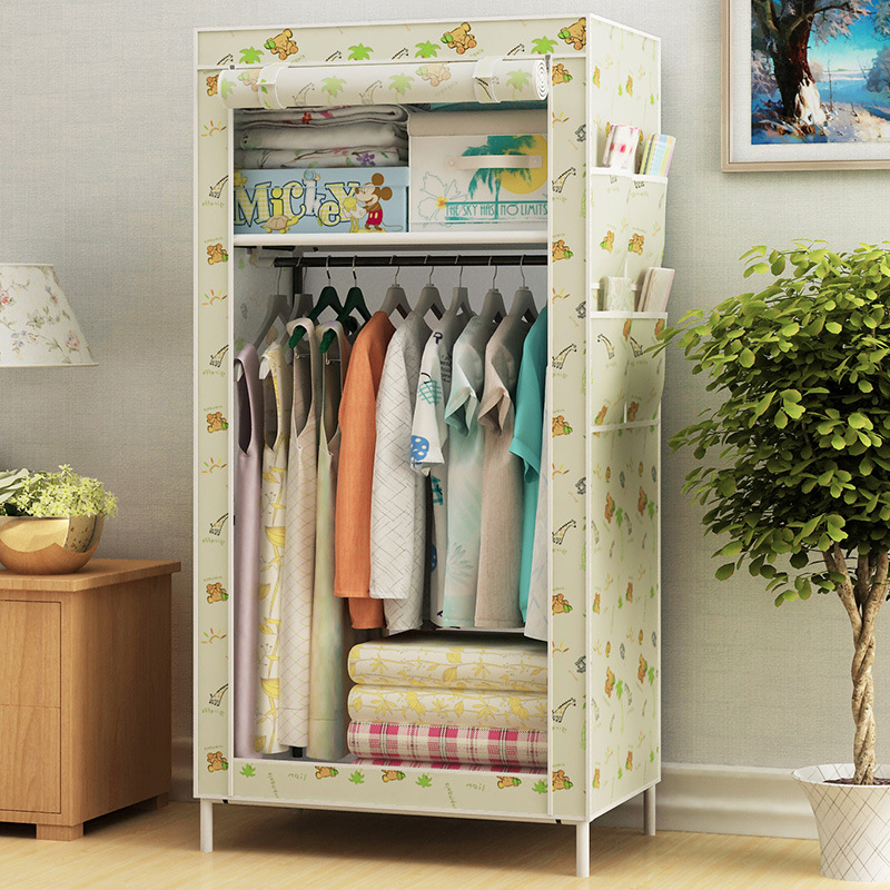 Simple Wardrobe Children Adult Dormitory Bedroom Cloth Wardrobe Minimalist Modern Economical Province Space Assembly Small Close