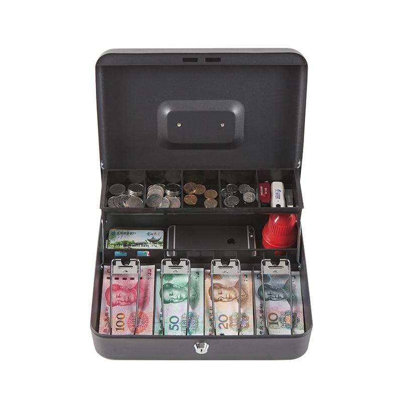 Coin Cash Mini Safe Box Tray Lockable Security Treasuries supermarket convenience store collection safe box trinket boxes