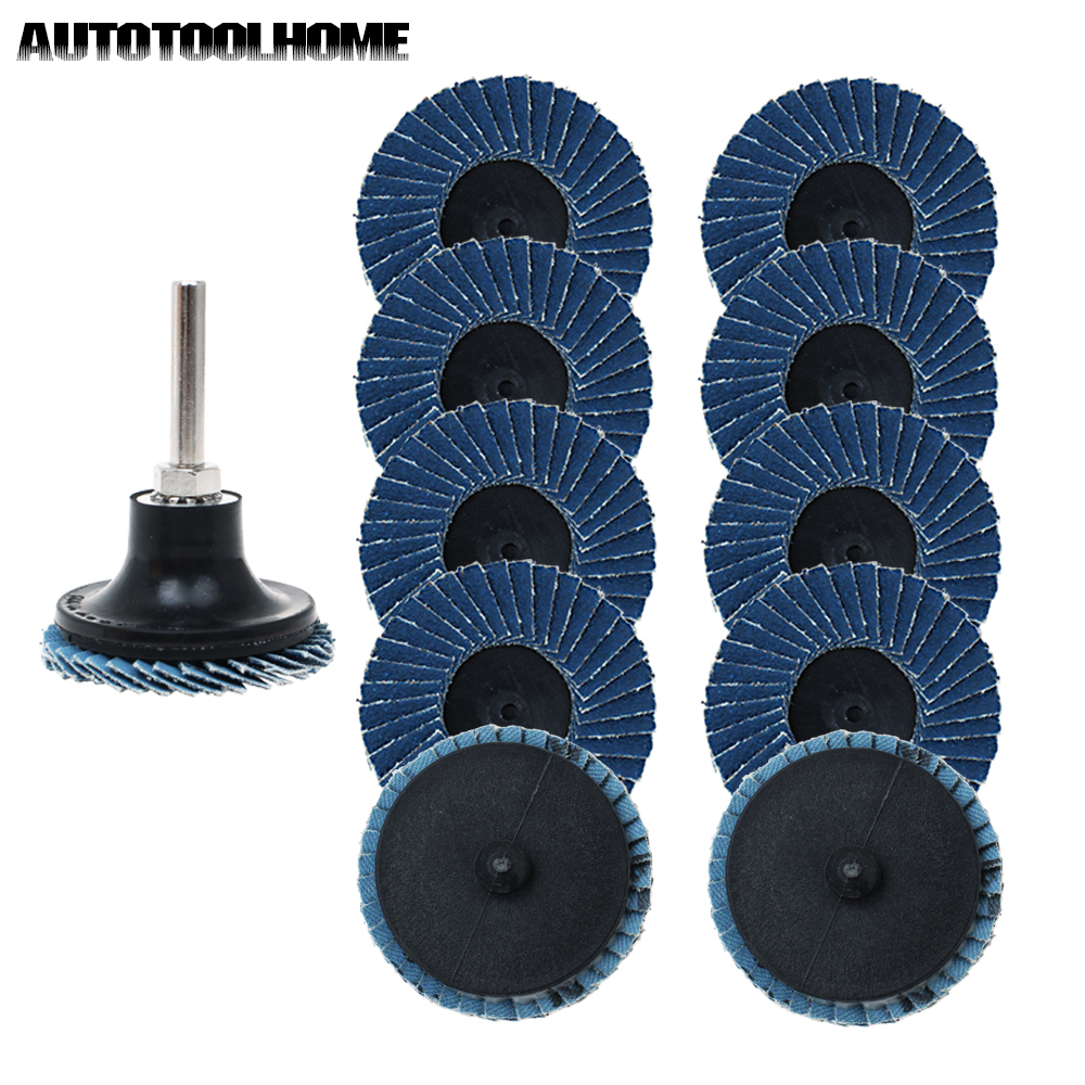 40 Grits Type R Roll Lock Flap Sanding Wheel Disc For Rotary Tool Blue Equipment