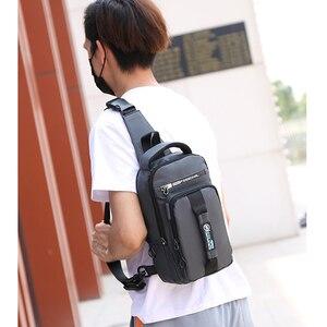 Image 5 - Praca Crossbody torby USB ładowanie rowerowa torba piersiowa krótka wycieczka posłańcy torba na klatkę piersiowa wodoodporna torba na ramię mężczyzna