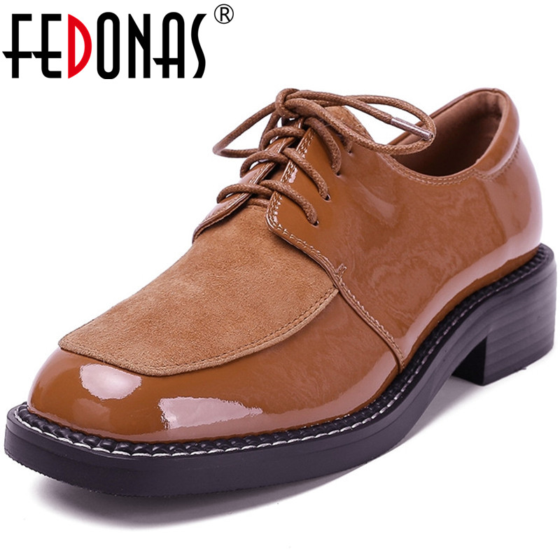 FEDONAS High Quality Women Cross-Tied Working Shoes Butterfly Knot Pumps Spring Summer Genuine Leather 2020 New Shoes Woman