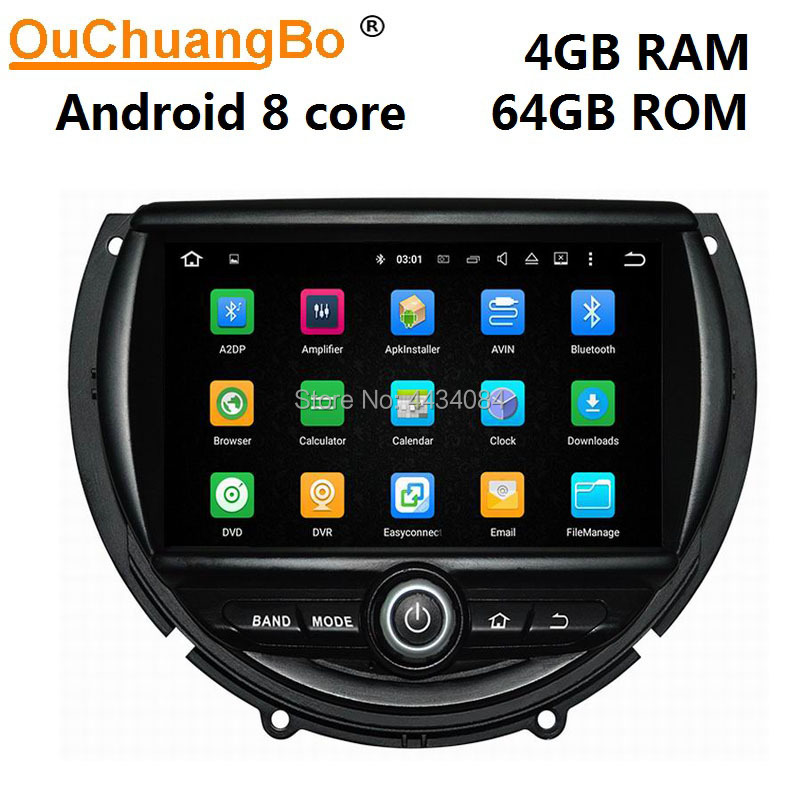 Ouchuangbo PX5 car audio gps nav stereo for Mini cooper F55 F56 F57 (2014-2015) with USB BT 4GB 64GB 8 octa core android 9.0 OS image