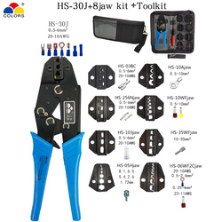 Crimping Pliers Clamp Tools Cap/coaxial Cable Terminals Kit 230mm HS-30J Multi Functional Colors Carbon Steel Multifunctional