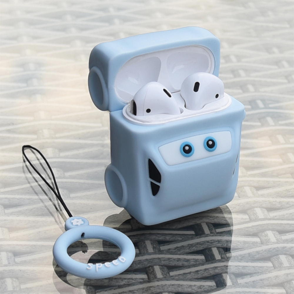 Toy Car Soft Shell Cover For <font><b>Apple</b></font> <font><b>AirPods</b></font> 1 2 <font><b>Case</b></font> Cover Cute TPU <font><b>Silicone</b></font> Earphones <font><b>Case</b></font> For <font><b>AirPods</b></font> 1 2 Headphone Storage Box image