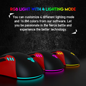 Image 3 - FANTECH X15 USB Optical Wired Gaming Mouse Adjustable 4800 DPI 7D Macro RGB Gaming Mouse For FPS LOL Game Mouse PC