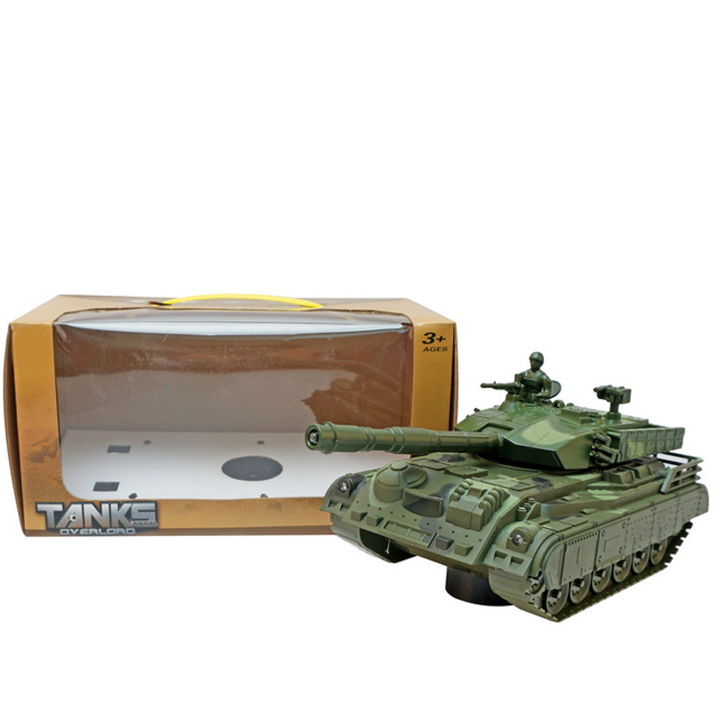 Stall Hot Selling Electric Tank Children Multi-functional Electric Light Music Model Military Model Tank Toys