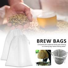 2 Pc Mesh Voedsel Theepot Grade Wijn Filter Bag Reuseable Thuis Bier Brouwen Maken Droesem Picking Filter 26X22 inches 40 P(China)