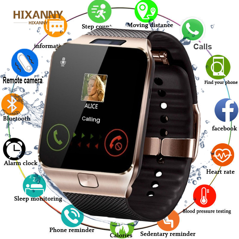 Bluetooth Smart Watch DZ09 Smartwatch Android Phone Call Connect Watch Men 2G GSM SIM TF Card Camera For IPhone Sa M U Ng Wei