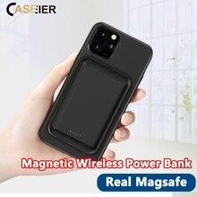 Магнитное Беспроводное зарядное устройство CASEIER, 5000 мАч, мини внешний аккумулятор для iPhone 12 Pro Max, магнитный внешний аккумулятор, портативный...
