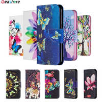 Painted Mobile Flip Case For huawei Honor 9X Pro 20 Lite 10i 10 Lite Wallet Cover Honor 8A 8S 8C 7A Pro 7s 7C Case Leather Book