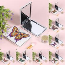 Мини зеркало для макияжа бабочка Сделай Сам специальная форма алмазная живопись ультра-тонкое зеркало для макияжа рождественские подарки ручной работы