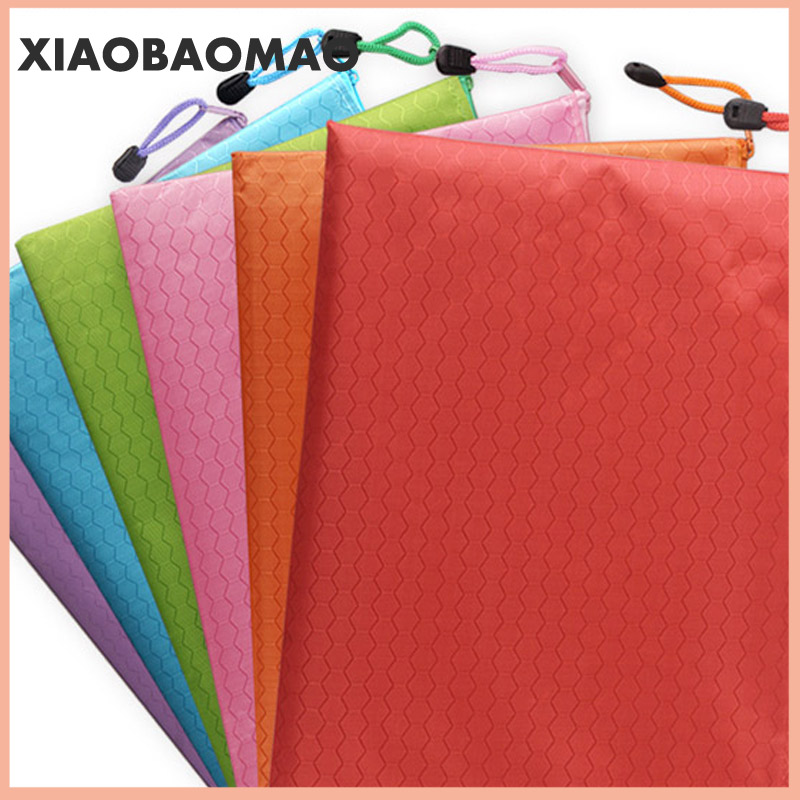 Canvas B8 A6 A5 B5 A4 B4 A3 Zipper Bags Colorful Document Pouch File Bag File Folder Stationery School Words Filing Production 6