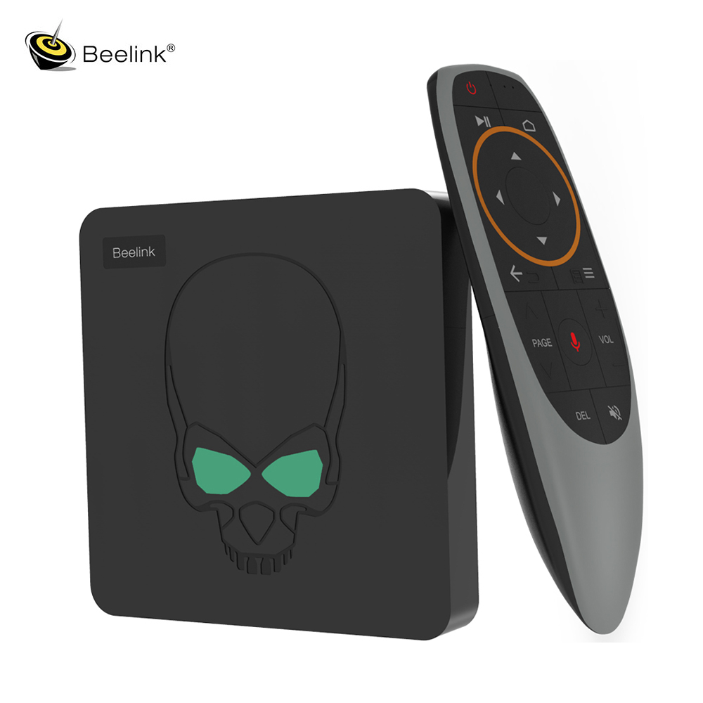 Beelink gt-king Android 9.0 TV Box Amlogic S922X 4GB 64GB 2.4G télécommande vocale 1000Mbps 4K HD double WiFi Pk H96 Max mxq