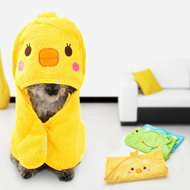 New Cute Pet Dog Towel Soft Drying Bath Cat Hoodies Puppy Super Absorbent Bathrobes Cleaning Supply Pet Health Care Hygiene 2021