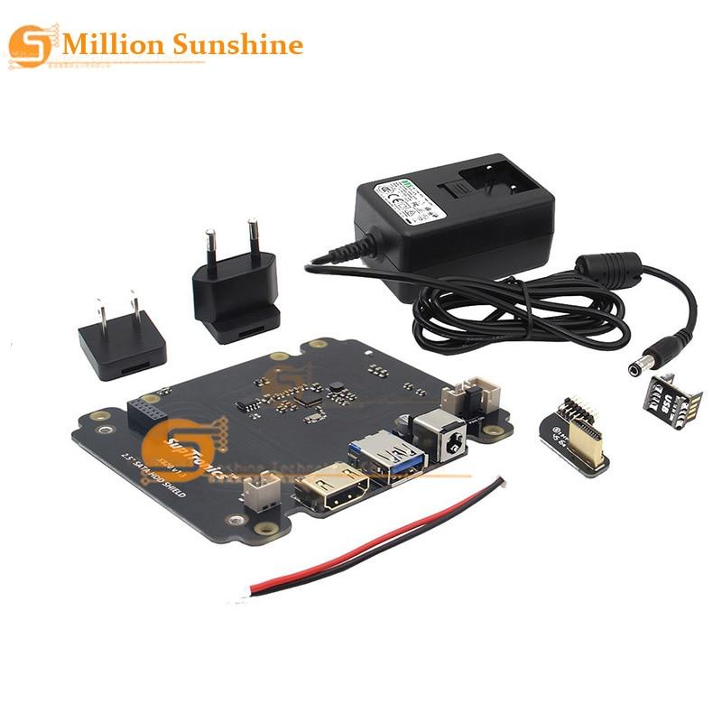 X820 V3.0 2.5 Inch SATA HDD/SSD Storage Expansion Board With DC 5V 4A Power Adapter Plug For Raspberry Pi 3 B+ (Plus) /3 B
