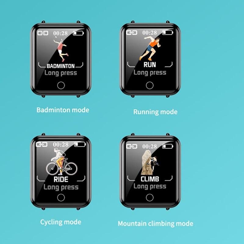 Спортивные смарт-часы температуры тела измерение артериального давления пульса обнаружение шагомер водонепроницаемый